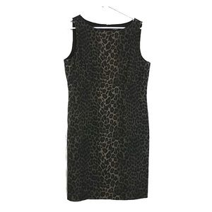 Ann Taylor Animal Sheath Dress Back Zipper 14 #218